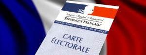 Photo d'une carte électorale