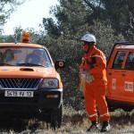 Agents de la Sécurité Civile en forêt