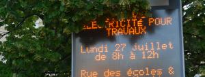 Panneau d'information municipale