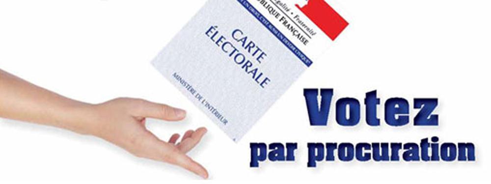 Photo d'une carte électorale pour le vote par procuration