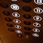 Photo de boutons d'ascenseur