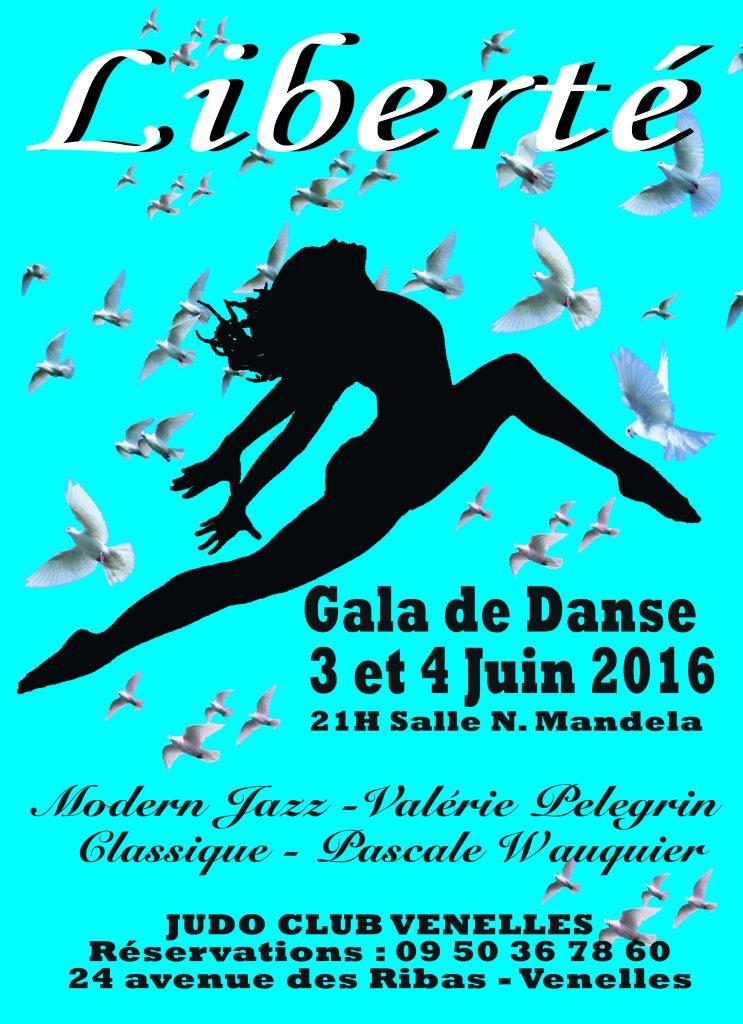 Affiche gala de danse du JCV