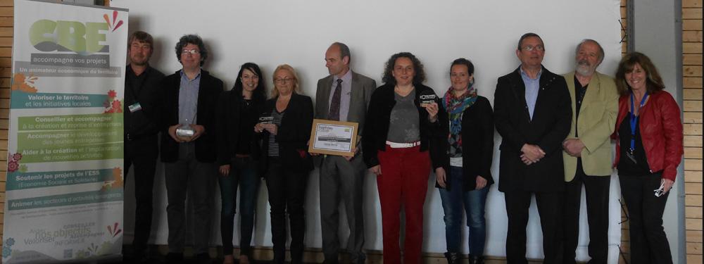 Photo des lauréats du trophée Nova Terra