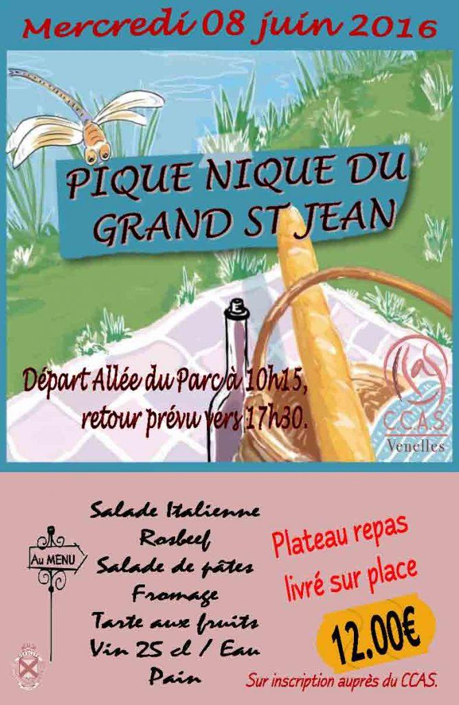 Affiche du pique nique du Grand Saint-Jean