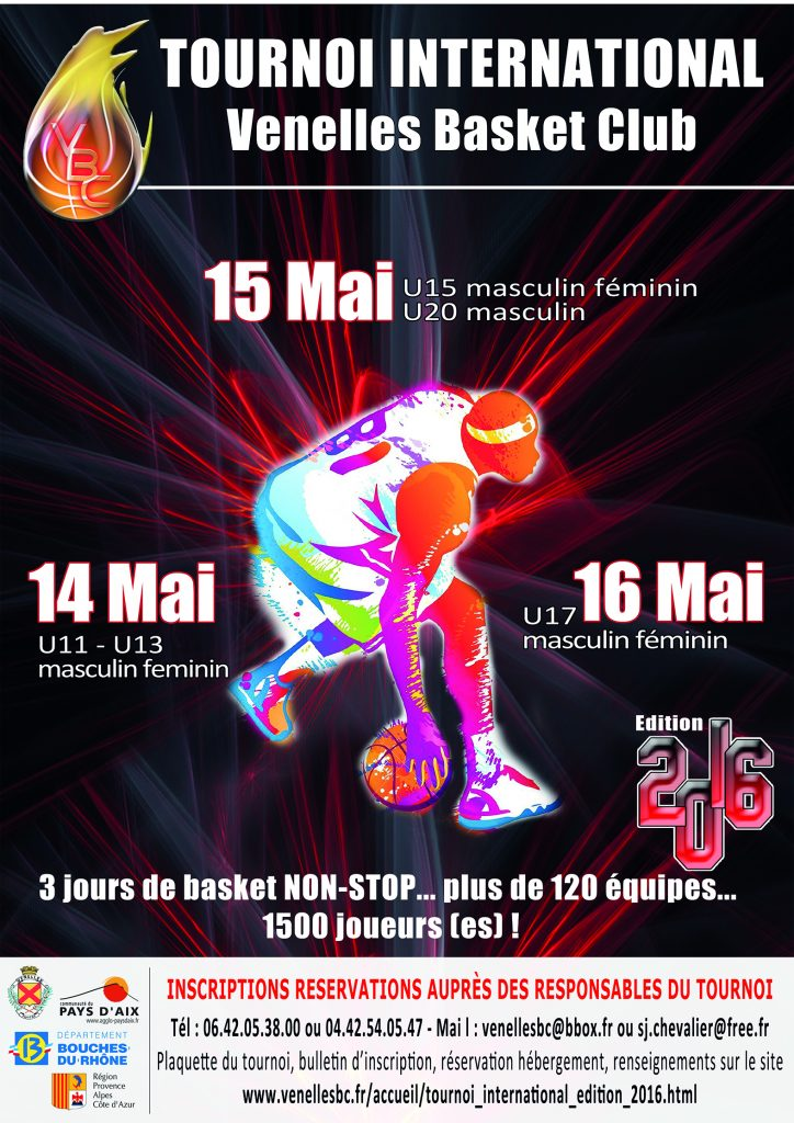 Affiche Tounoi international de Basket