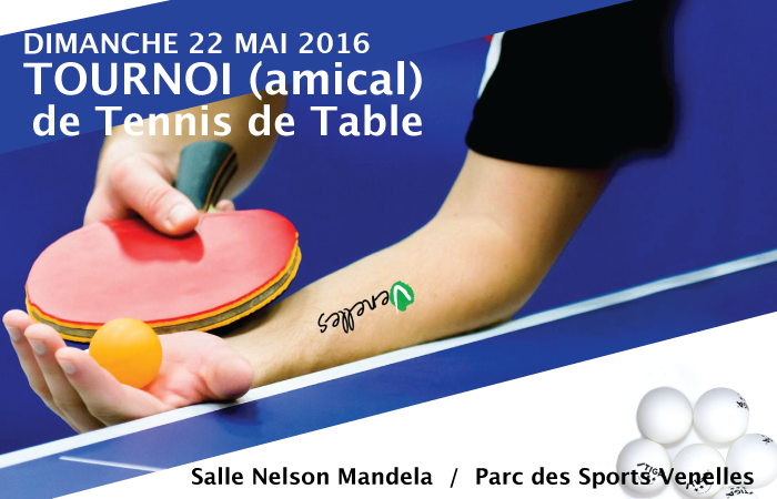 Affiche du tournoi de tennis de table du PPV