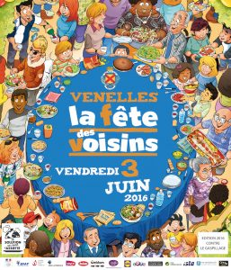 Affiche de la Fête des Voisins 2016