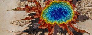 Photo d'une œuvre réalisé en mosaïques