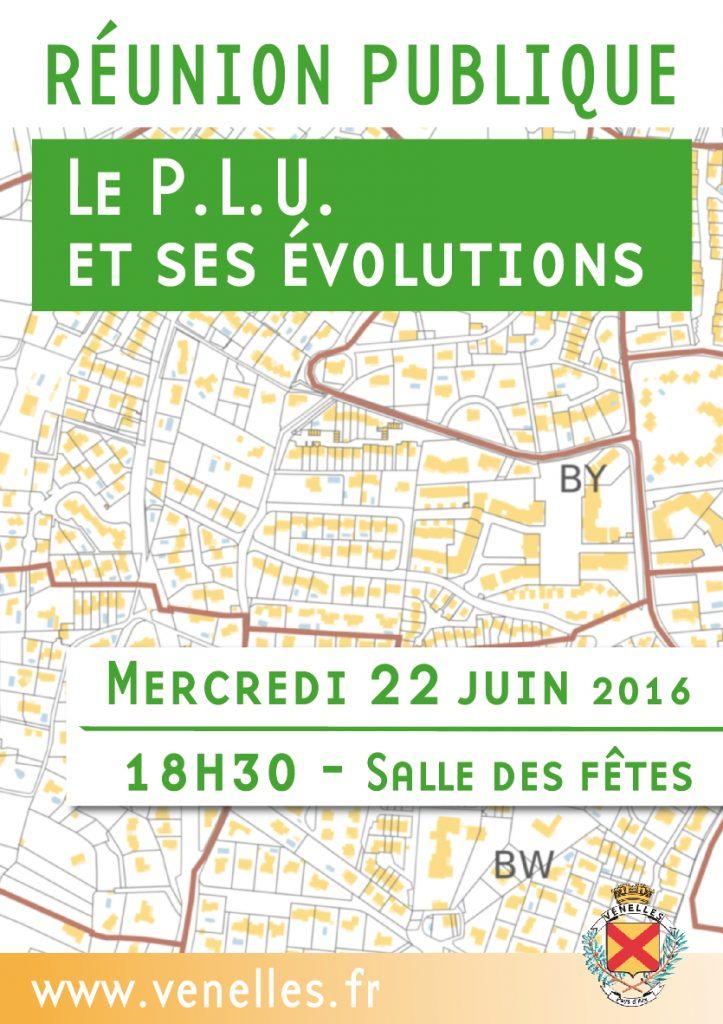 Affiche réunion publique : les PLU et ses évolutions