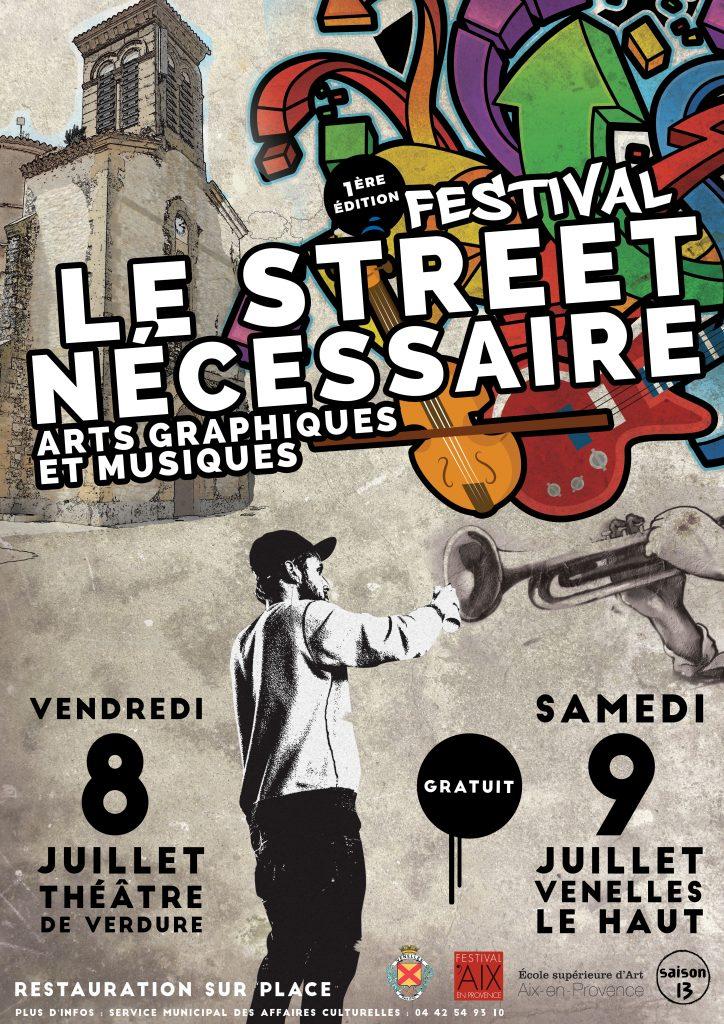 Affiche du festival Street Nécessaire
