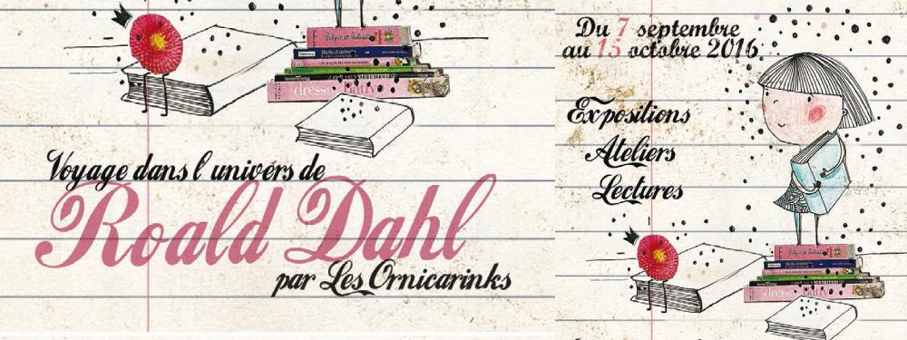 Affiche de l'exposition Roald Dahl