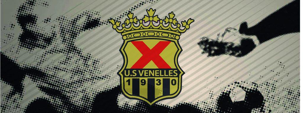 visuel de l'emblème du club de foot de Venelles, un croix rouge surmontée d'une couronne