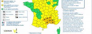 visuel de la carte d'alerte météo pour les Bouche-du-Rhône