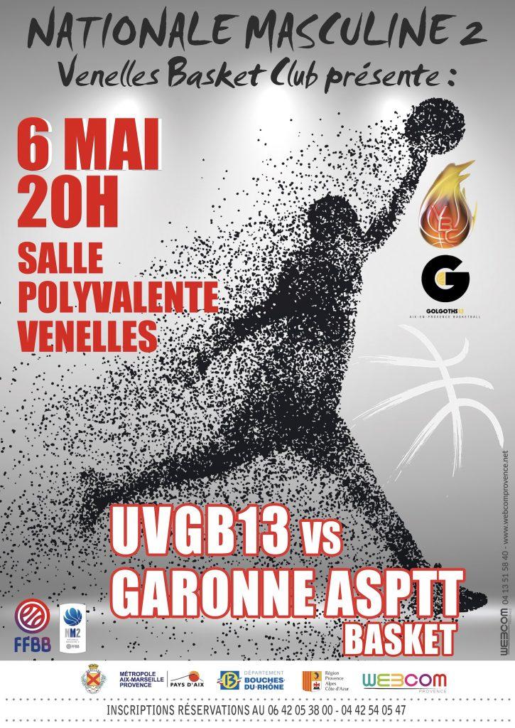 Affiche du match de Basket du 6 mai