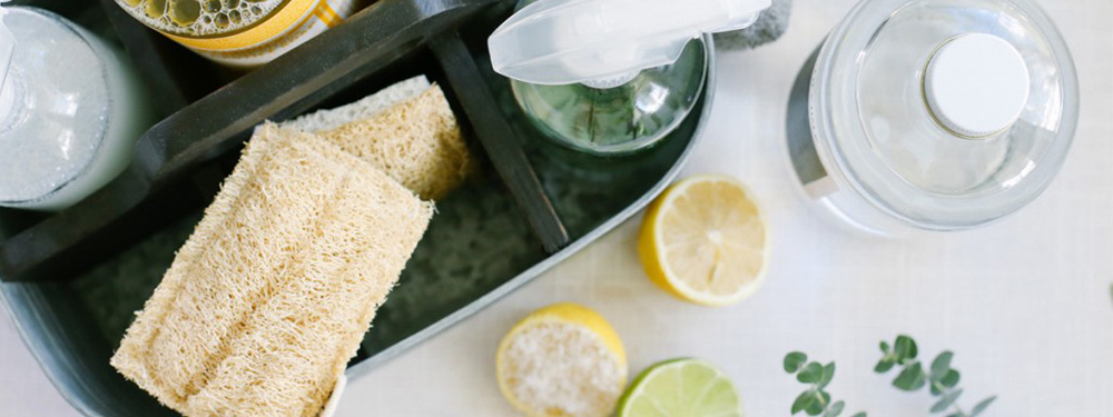 Photo des produits, éponge, citron pour pouvoir faire ses produits d'entretien soit même
