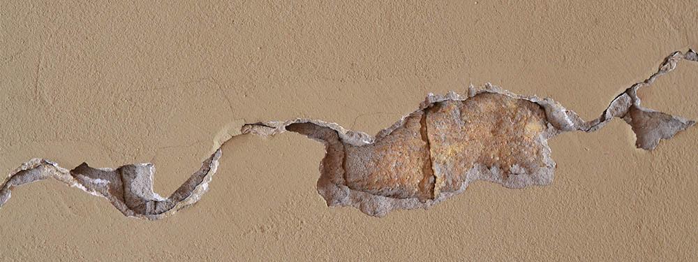Photo d'une fissure sur un mur