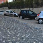 Photo du parking situé rue de la Roberte en zone bleue