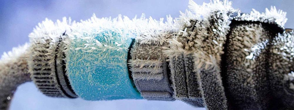 Visuel d'une canalisation gelée