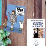 Sélection de 6 livres pour la journée de la femme de la bibliothèque pour le mois de décembre 2016 posés sur un fond bois