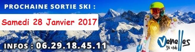 Affiche pour la prochaine sortie ski du VPAM