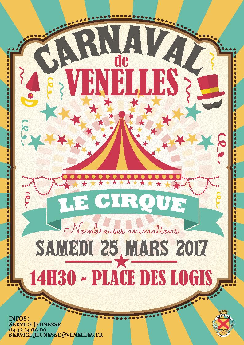 Illustration pour l'affiche du carnaval 2017 sur le thème du cirque