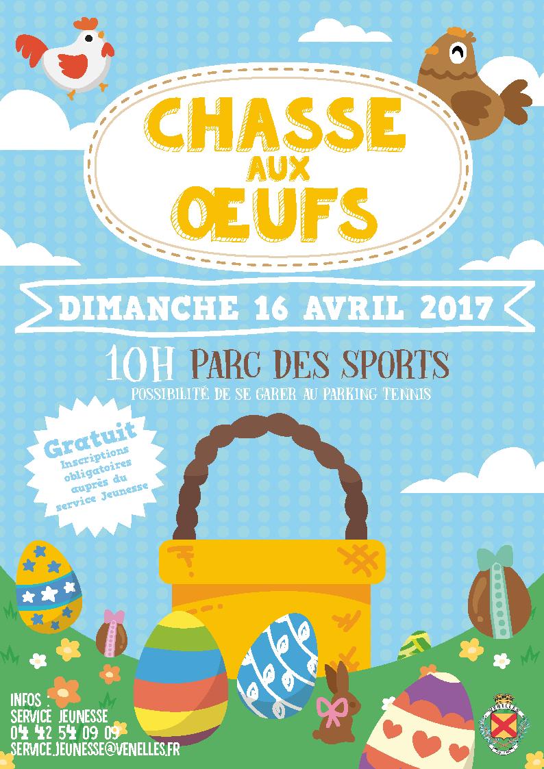 Illustrations pour l'affiche chasse aux oeufs 2017 représentant des poules, un panier et des œufs