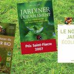 Ribambelle de livres coup de coeur de la bibliothèque sur le thème du jardinage
