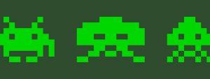 Photo de 3 forme en pixel art