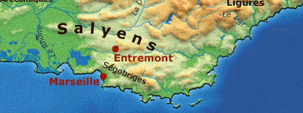 Photo d'une carte ancienne de la région datant de l'époque des Ligures