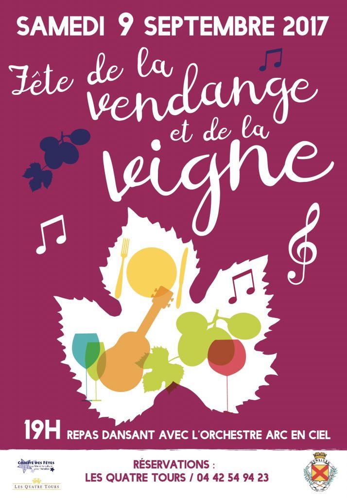 Affiche fête de la vendange et de la vigne