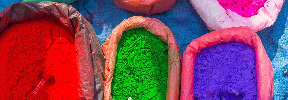 Photo de pigments de différentes couleurs