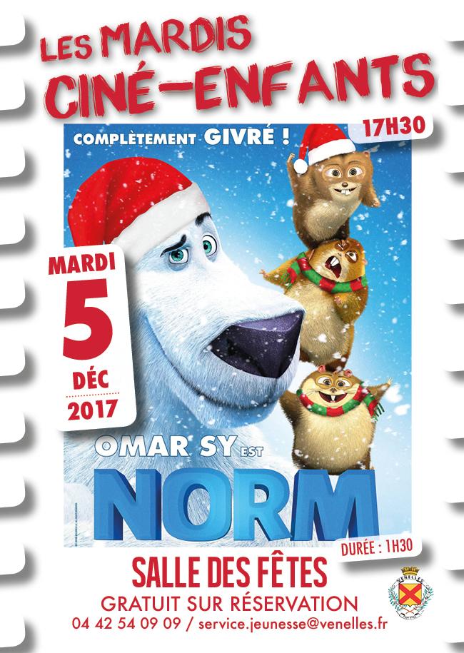 Affiche du ciné enfants du 5 décembre 2017 - Norm
