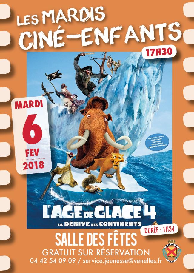Affiche du ciné enfants du 6 février 2018 - L'âge de glace 4
