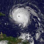 Photo satellite de l'ouragan irma suivi par José