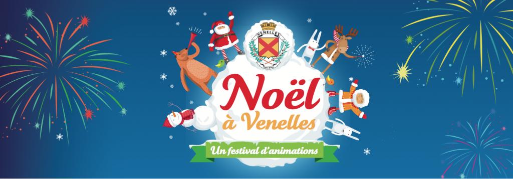 Illustration pour Noël à Venelles avec feu d'artifice, bonhomme de neige, rennes…