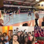Compilation de photos des équipes gagnantes en sport collectif du week end du 17 mars : volley, basket, waterpolo