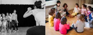 2 photos des enfants lors de leurs stages Co'lidays