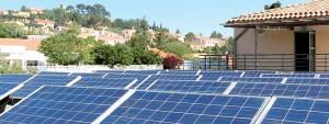 Photo de panneaux solaires