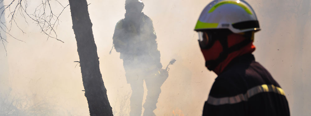 Photos de pompiers en action