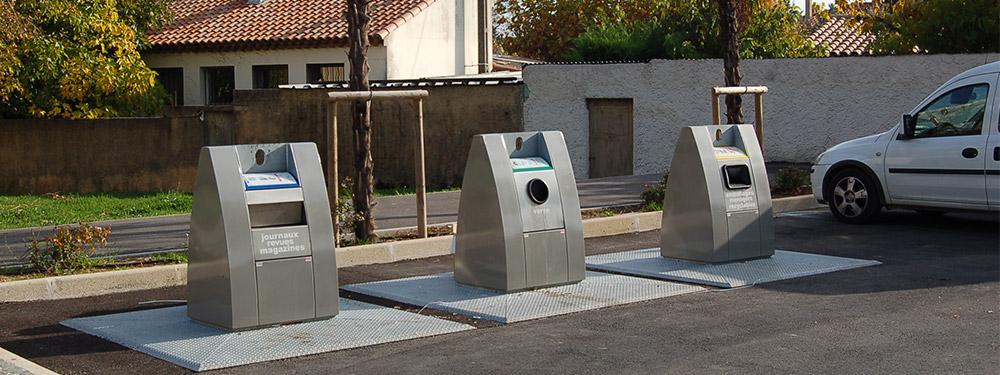 Poubelles de recyclage