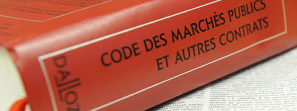 Photo du code des marchés publics