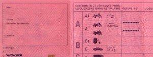 Photo d'un permis de conduire