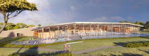 Plan d'architecte du nouveau centre aquatique