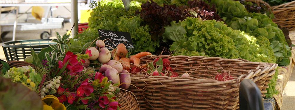 Photo de produits sur le marché de Venelles