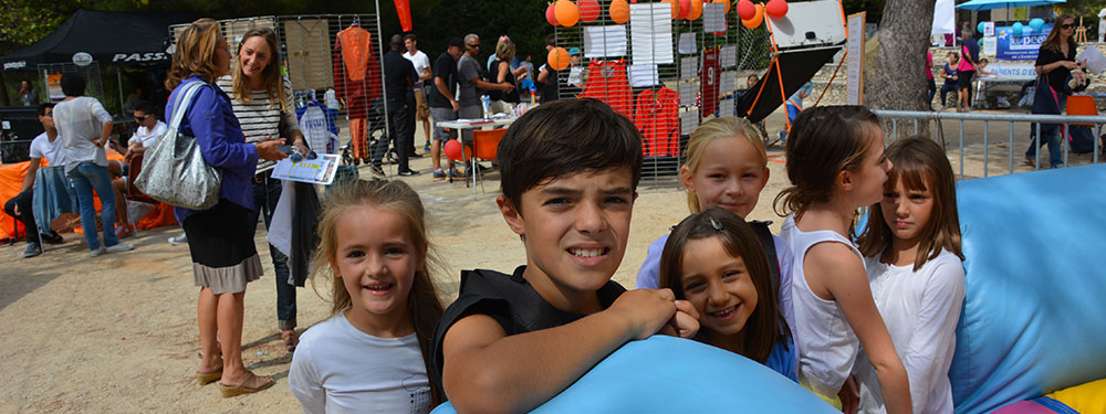 Photo d'enfants lors d'une manifestation associative