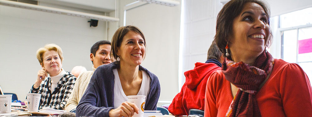 Groupe de femmes en salle de formation