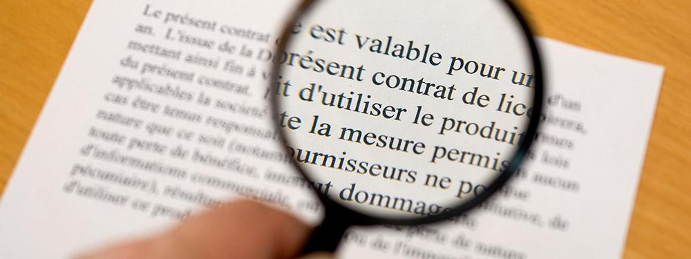 Contrat de mentions légales