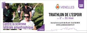 Affiche triathlon de l'espoir