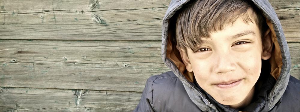 Photo d'un enfant souriant
