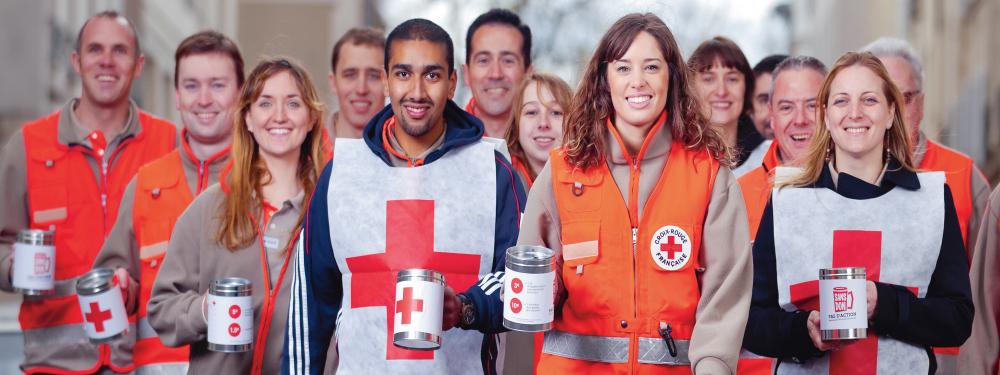 Photo de l'équipe de la Croix Rouge